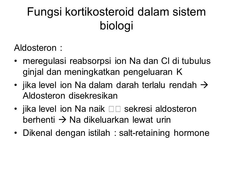 Fungsi kortikosteroid dalam sistem biologi