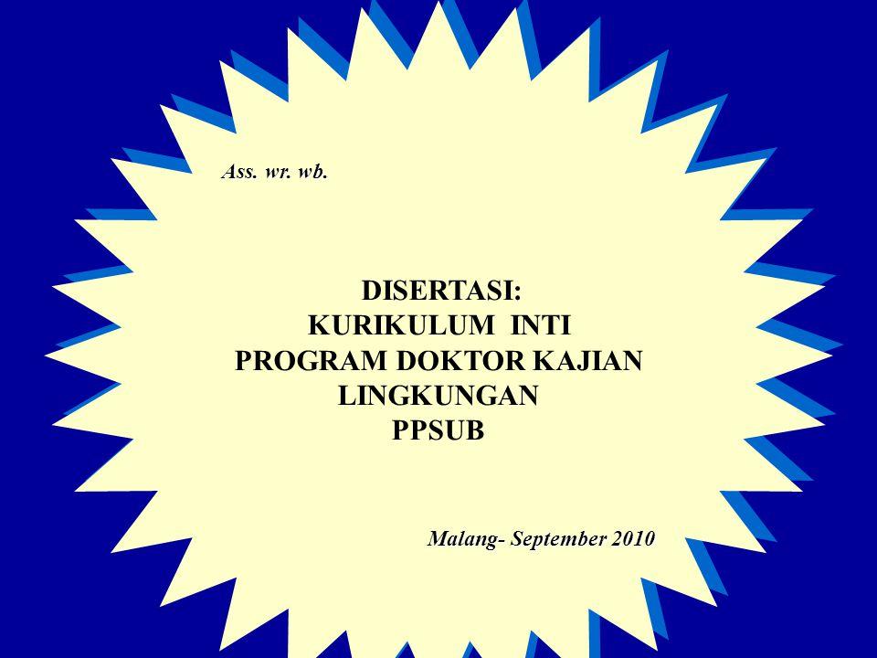 PROGRAM DOKTOR KAJIAN LINGKUNGAN