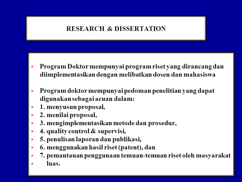 RESEARCH & DISSERTATION