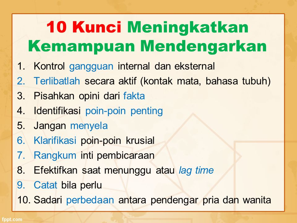 10 Kunci Meningkatkan Kemampuan Mendengarkan