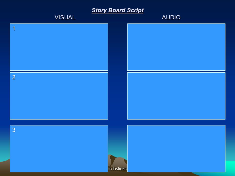 Story Board Script VISUAL AUDIO