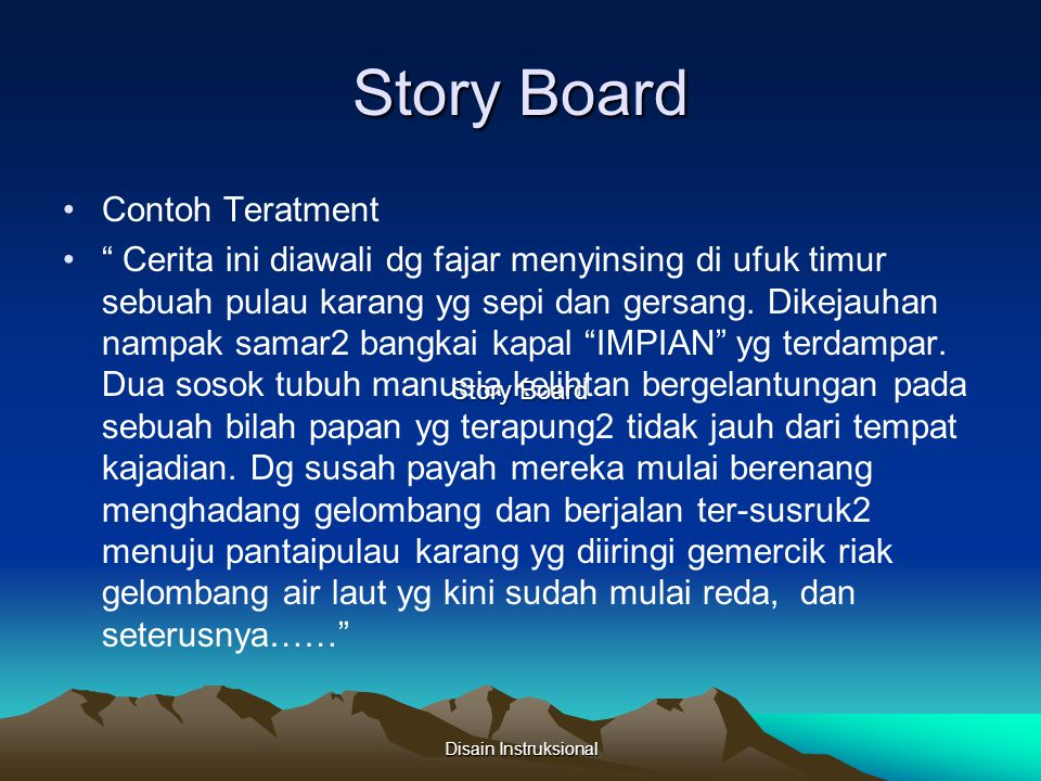 Story Board Contoh Teratment