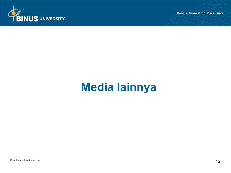 Media lainnya Bina Nusantara University 12