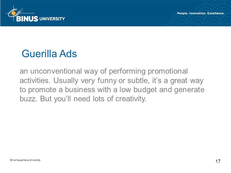Guerilla Ads