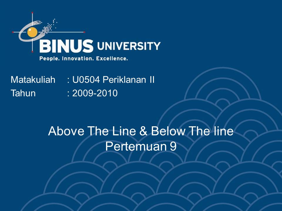 Above The Line & Below The line Pertemuan 9