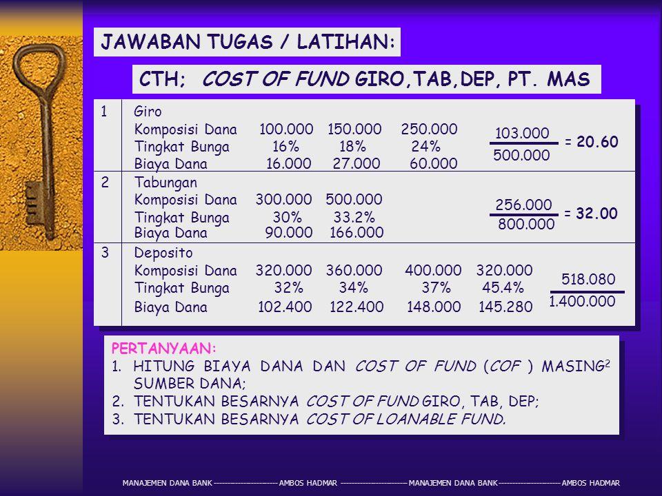 JAWABAN TUGAS / LATIHAN: