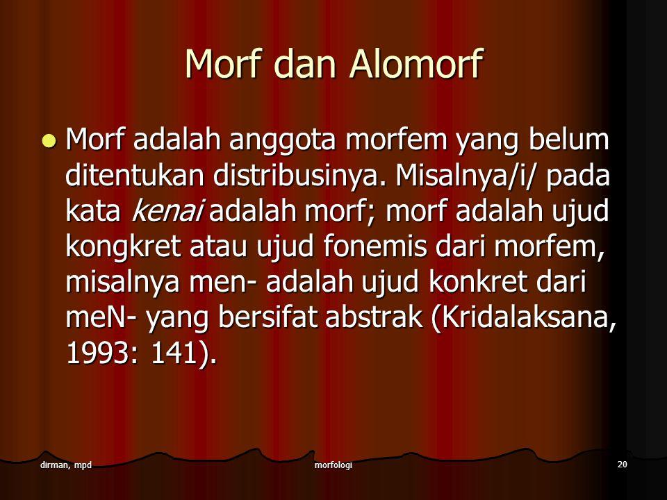 Morf dan Alomorf