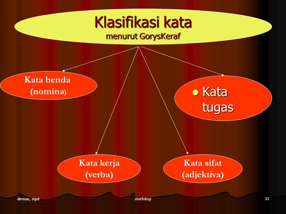 Klasifikasi kata menurut GorysKeraf
