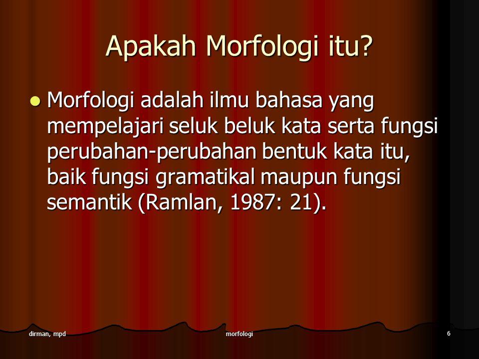 Apakah Morfologi itu