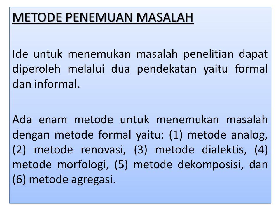 METODE PENEMUAN MASALAH