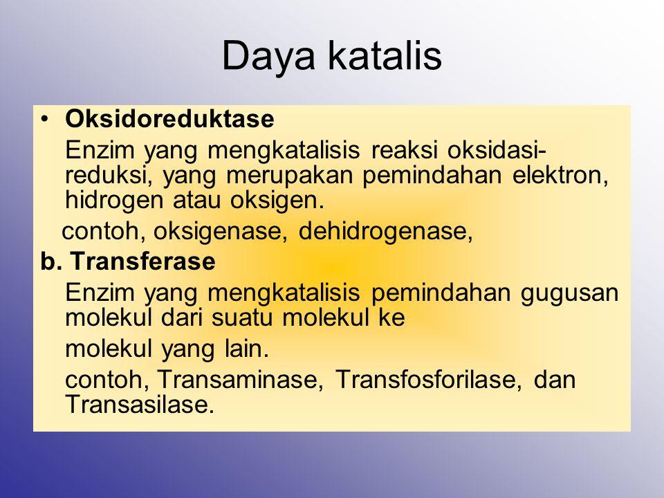 Daya katalis Oksidoreduktase