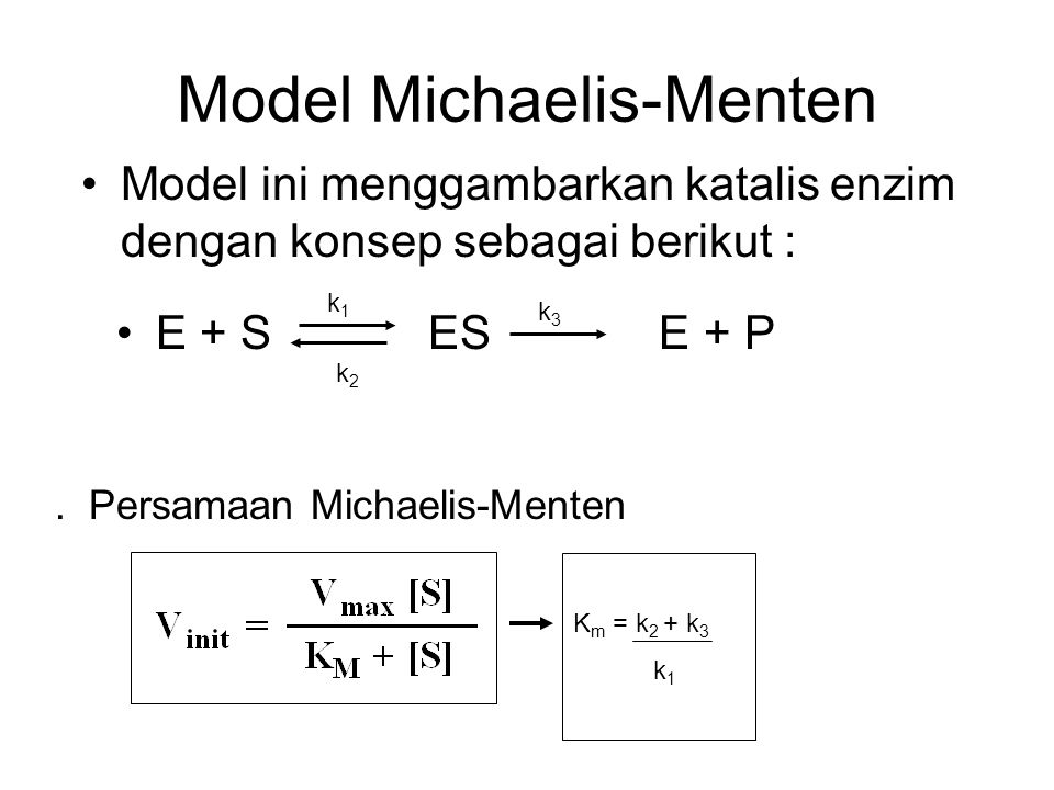 Model Michaelis-Menten