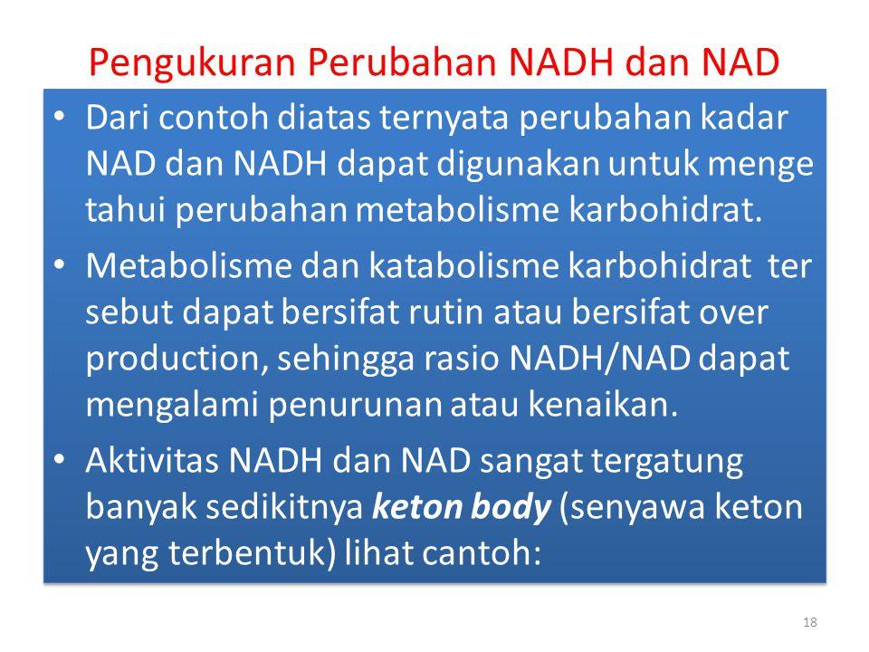 Pengukuran Perubahan NADH dan NAD
