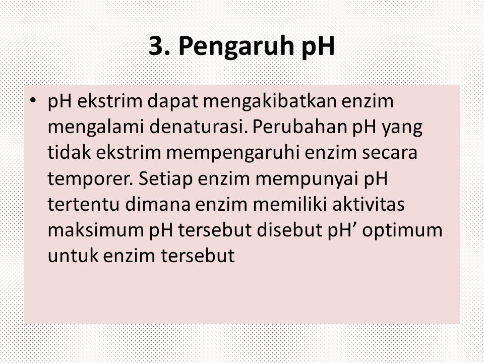 3. Pengaruh pH