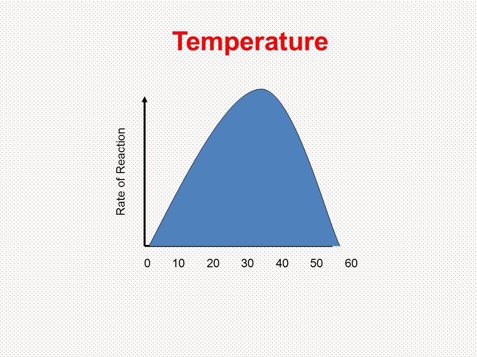 Temperature Rate of Reaction 10 20 30 40 50 60