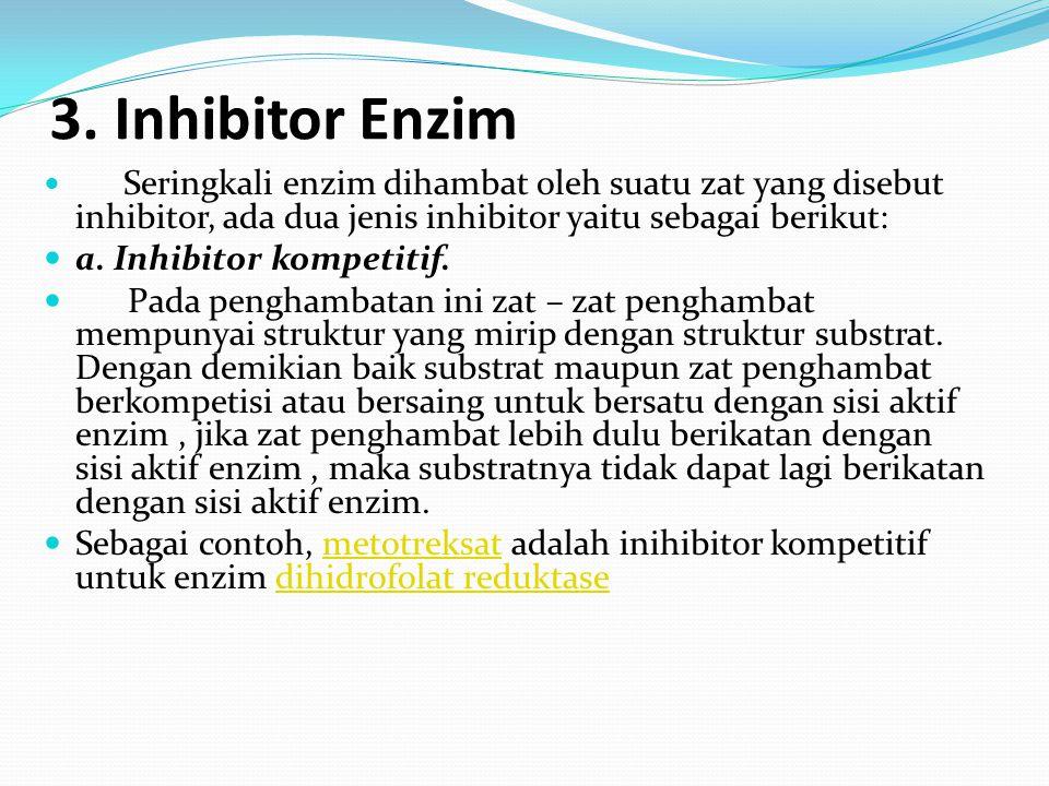 3. Inhibitor Enzim a. Inhibitor kompetitif.