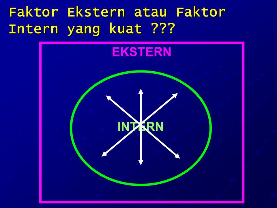 Faktor Ekstern atau Faktor Intern yang kuat