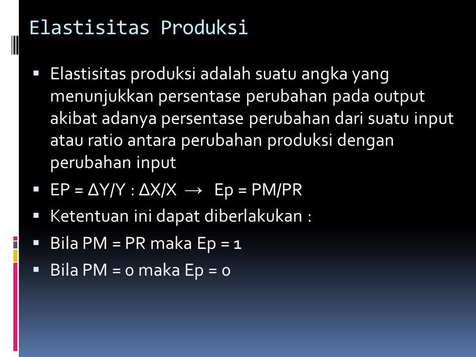 Elastisitas Produksi