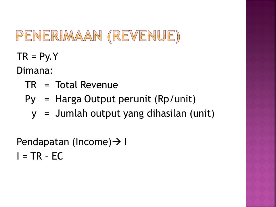 Penerimaan (Revenue)