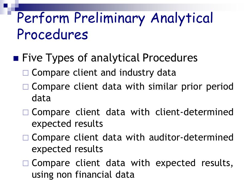 Perform Preliminary Analytical Procedures