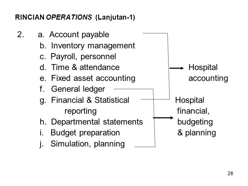 RINCIAN OPERATIONS (Lanjutan-1)