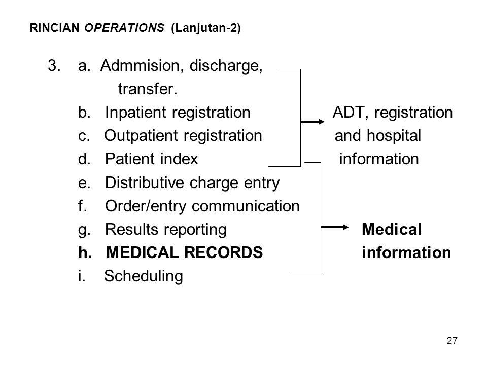 RINCIAN OPERATIONS (Lanjutan-2)
