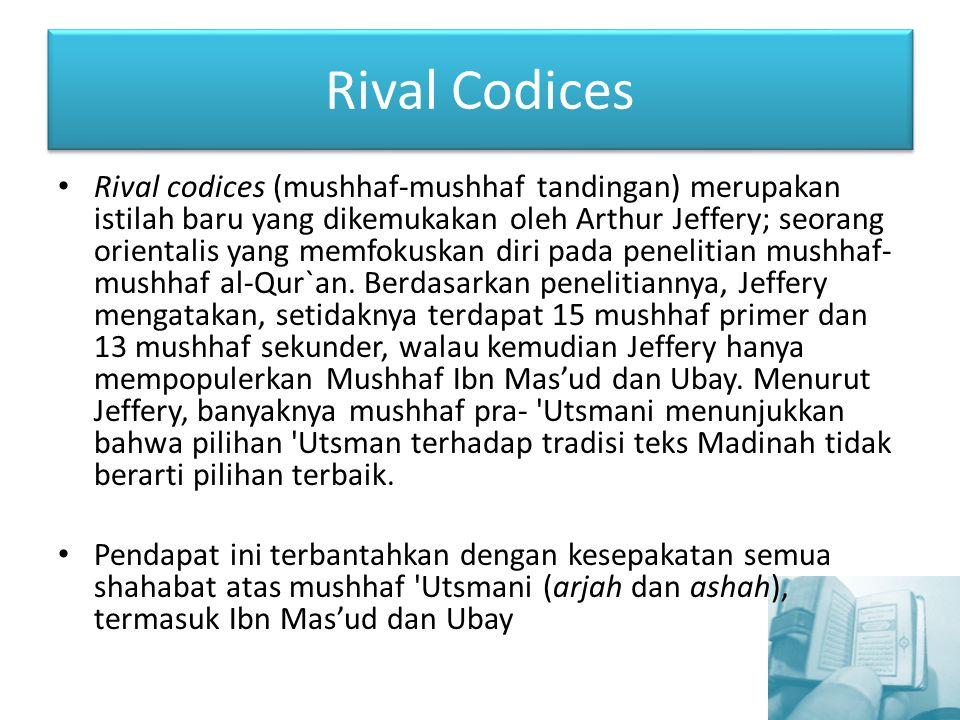 Rival Codices
