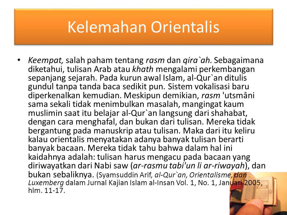 Kelemahan Orientalis