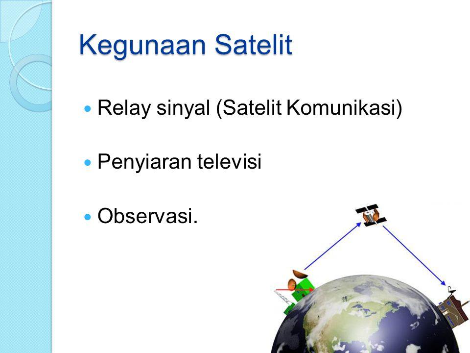 Kegunaan Satelit Relay sinyal (Satelit Komunikasi) Penyiaran televisi