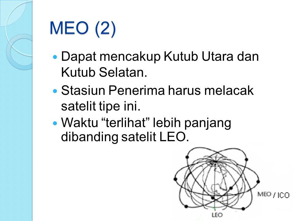 MEO (2) Dapat mencakup Kutub Utara dan Kutub Selatan.
