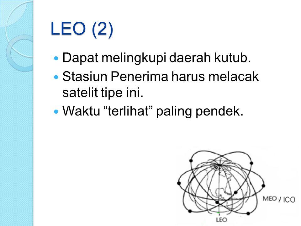 LEO (2) Dapat melingkupi daerah kutub.