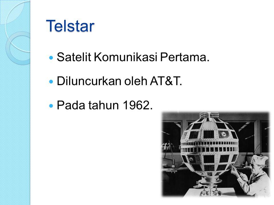 Telstar Satelit Komunikasi Pertama. Diluncurkan oleh AT&T.