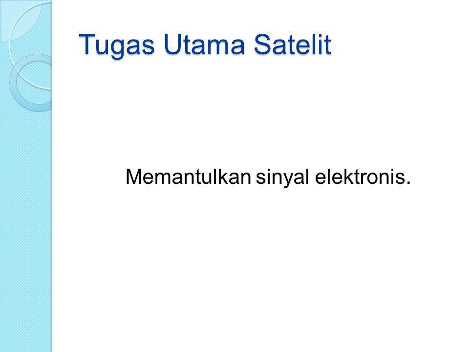 Memantulkan sinyal elektronis.