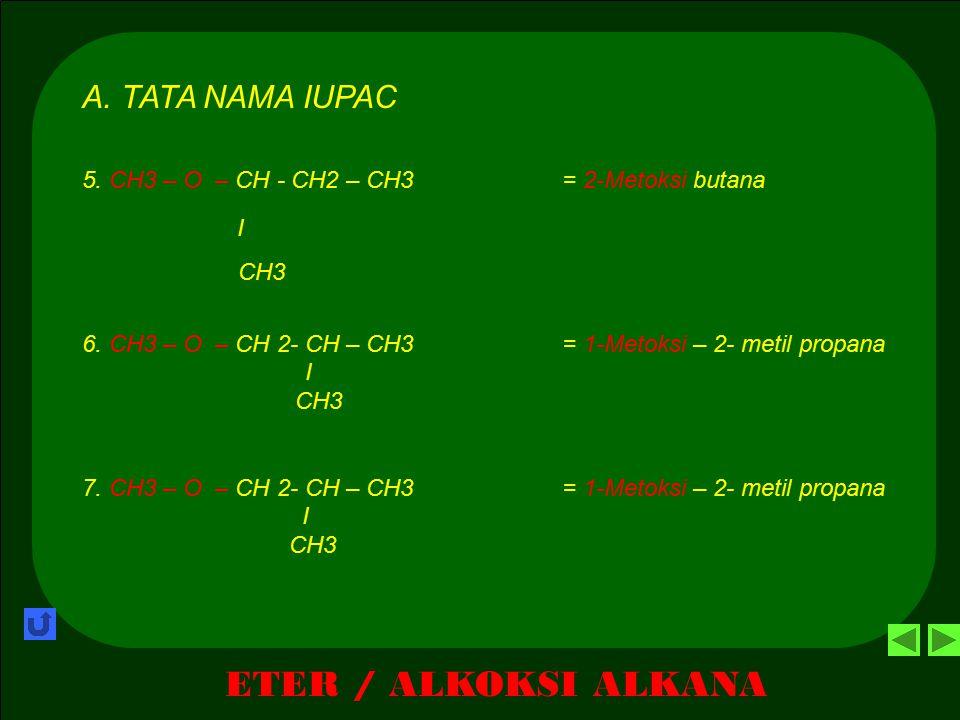 ETER / ALKOKSI ALKANA A. TATA NAMA IUPAC I