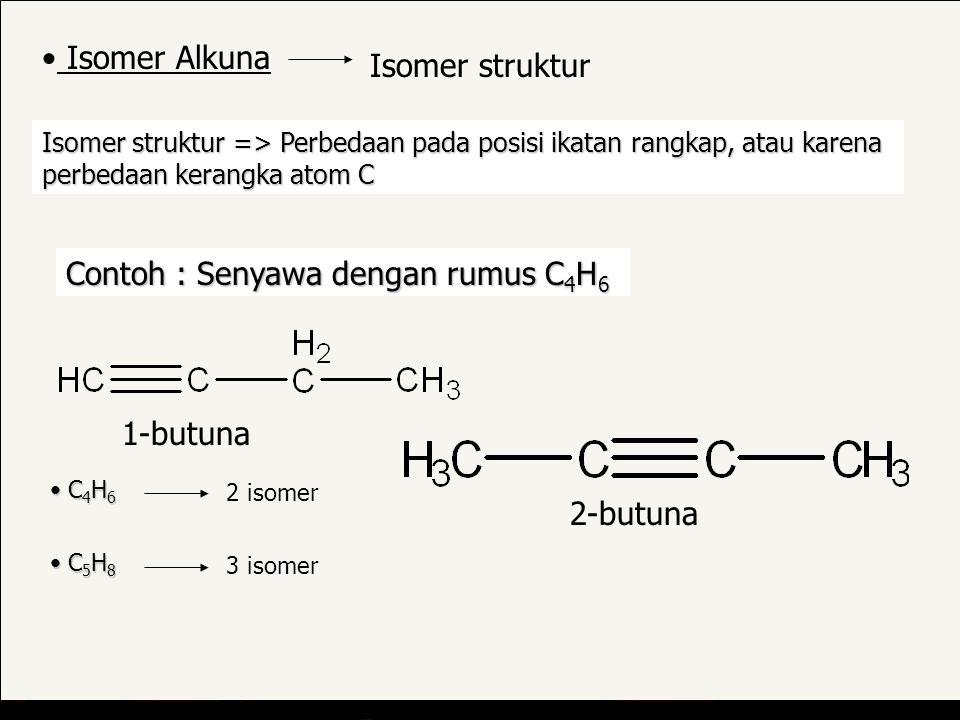 Contoh : Senyawa dengan rumus C4H6