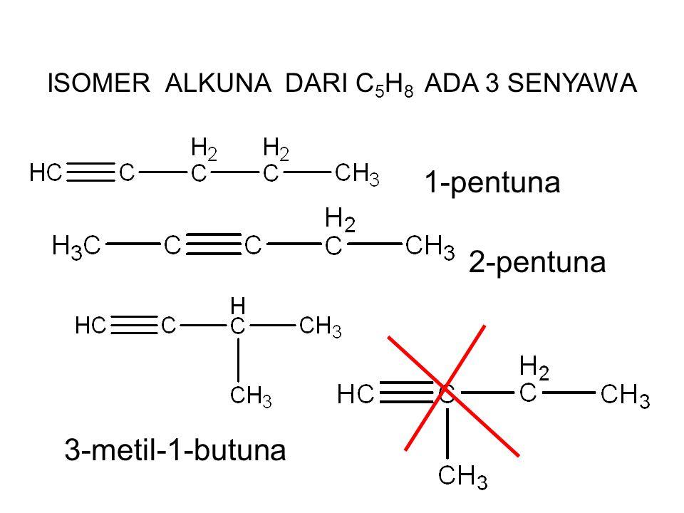 1-pentuna 2-pentuna 3-metil-1-butuna