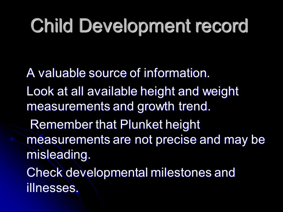 Child Development record