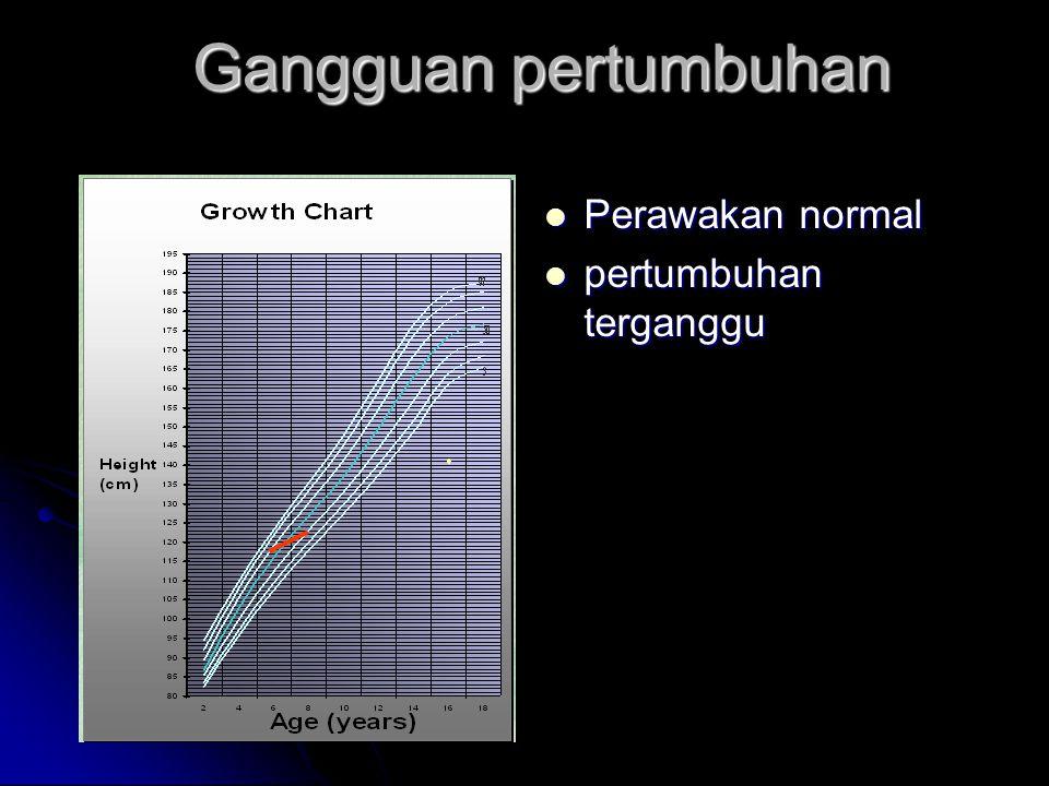 Gangguan pertumbuhan Perawakan normal pertumbuhan terganggu