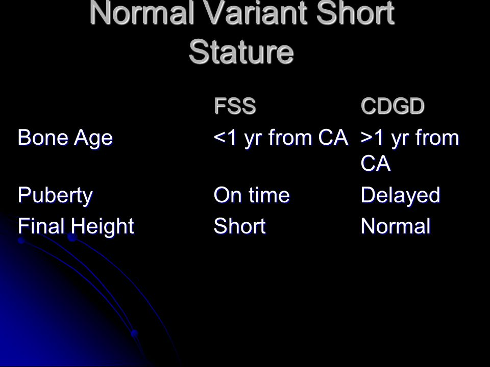 Normal Variant Short Stature