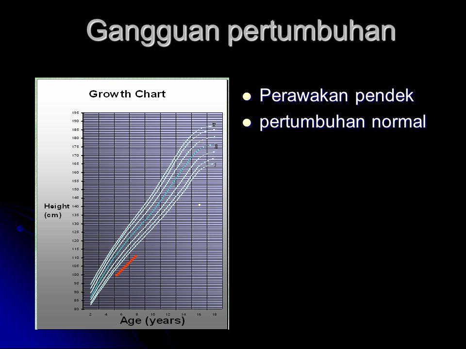 Gangguan pertumbuhan Perawakan pendek pertumbuhan normal