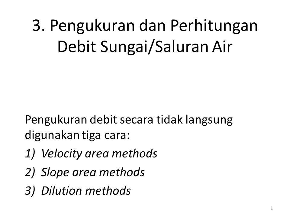 3. Pengukuran dan Perhitungan Debit Sungai/Saluran Air