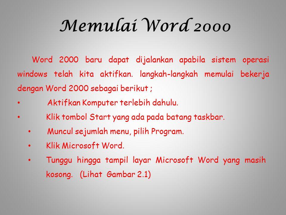 Memulai Word 2000