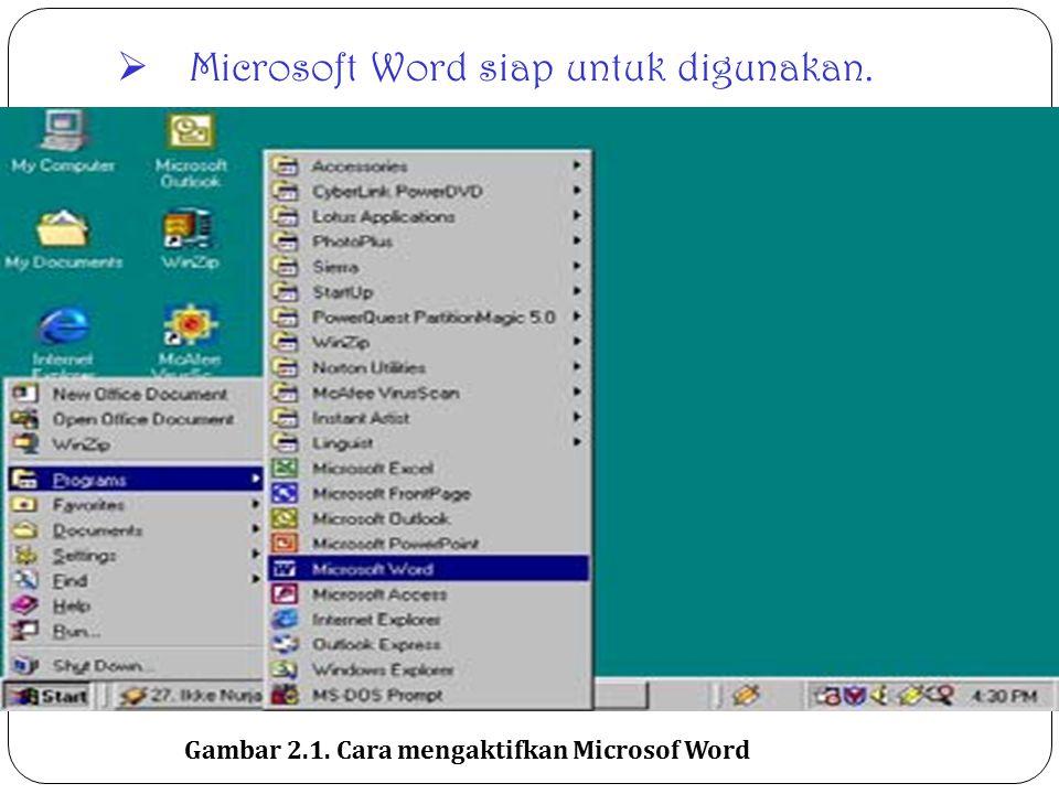 Microsoft Word siap untuk digunakan.