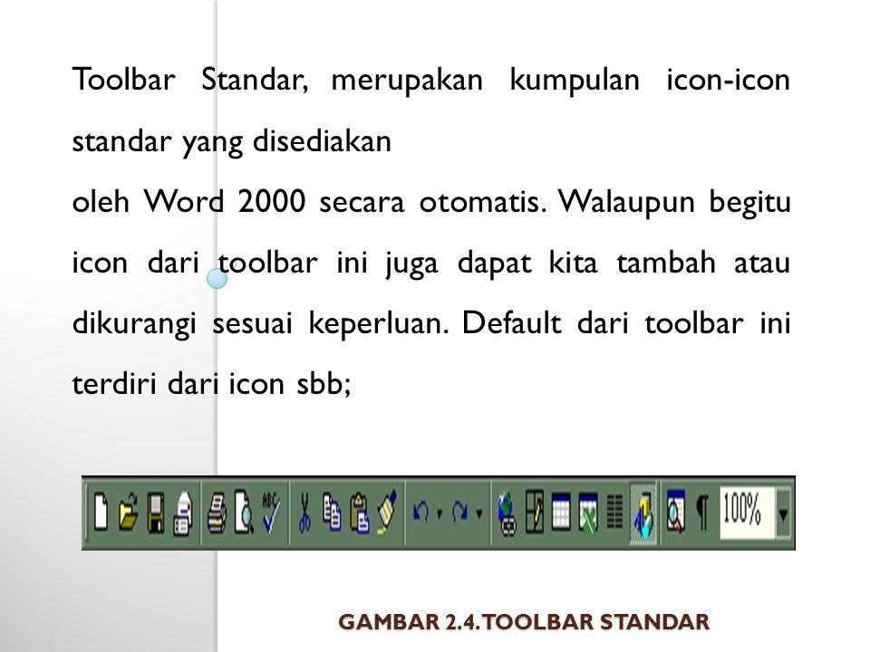 Gambar 2.4. Toolbar Standar