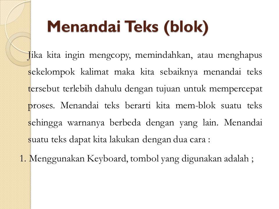 Menandai Teks (blok)