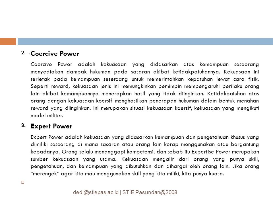 2. .Coercive Power