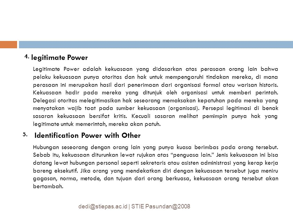 5. Identification Power with Other