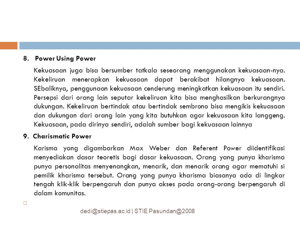 8. Power Using Power