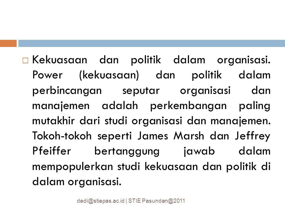 Kekuasaan dan politik dalam organisasi