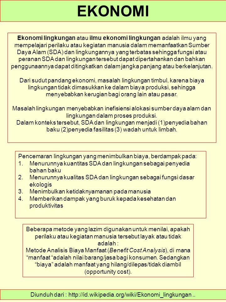 Diunduh dari : http://id.wikipedia.org/wiki/Ekonomi_lingkungan ..